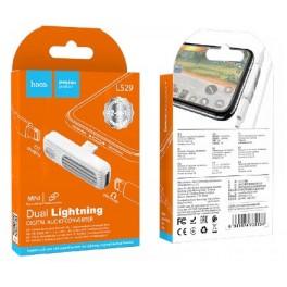 HOCO LS29 DUAL LIGHTNING DIGITAL AUDIO CONVERTER WHITE