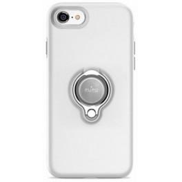 Puro Cover PC+TPU Magnet Ring per iPhone 7/8 + anello girevole 360°e placca metallica integrata bianco